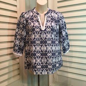 Jones NY Tie Dye Print Tunic, XL, Like New